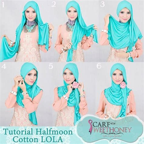 tutorial halfmoon qaira hijab 79 best images about islam hijab tutos on pinterest