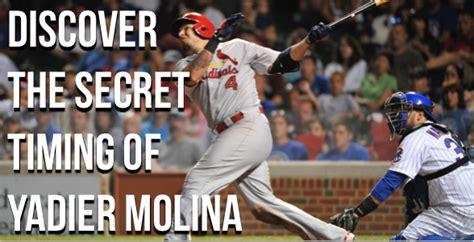 yadier molina swing yadier molina reveals his hitting secret art of