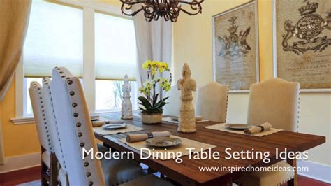 dining room table setting ideas modern dining table setting ideas