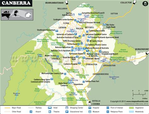 Canberra Map, Map of Canberra City, Australia
