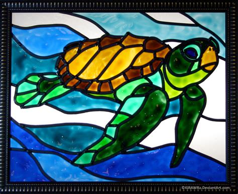 stained glass turtle l faux stained glass sea turtle weasyl