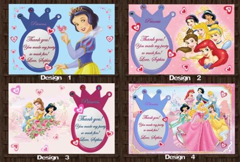 disney jr printable birthday cards 6 best images of disney princess thank you cards printable