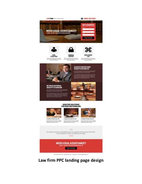 pay per click landing page design templates exles for