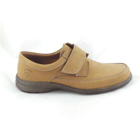 softwalk mens nubuck leather casual shoe with velcro
