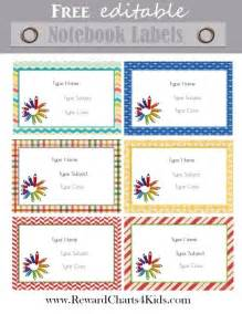 Notebook Label Template by Free Personalized School Labels Customize