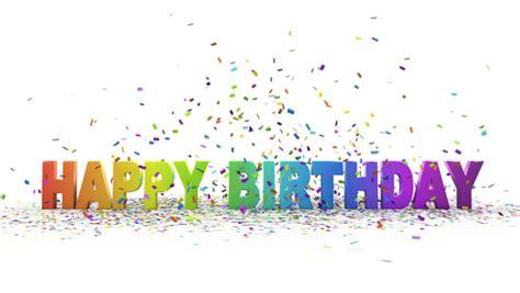 happy birthday 3d logo design happy birthday 3d animation stock footage video 2752439