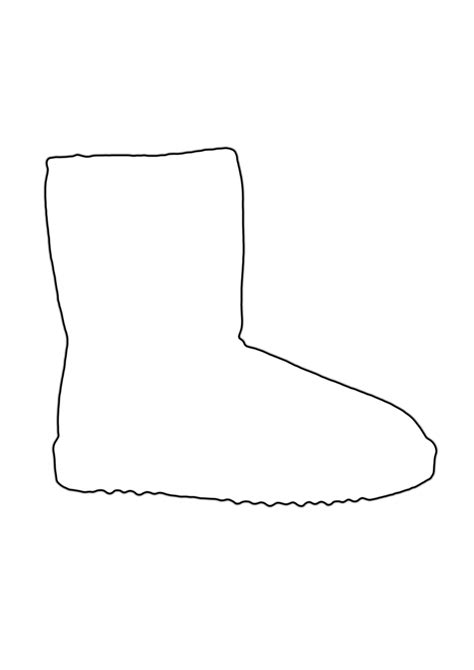 Boot Template by Shoe Outlines Cliparts Co