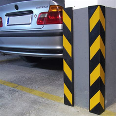 Parking Garage Column Protection by Rubber Corner Guards Bc Site Service