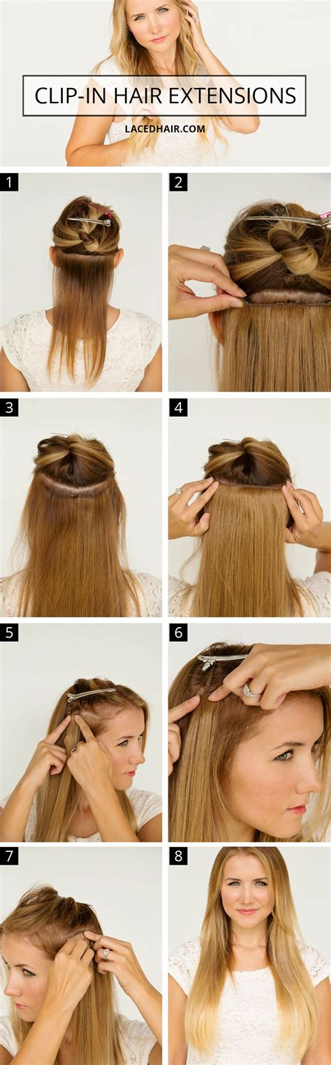 hair extensions hairstyles tutorial how to wear clip in hair extensions laced hair