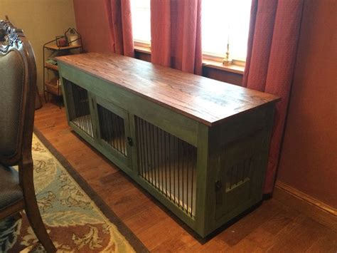 sofa table dog crate dog crate console for the pup pinterest dog crate