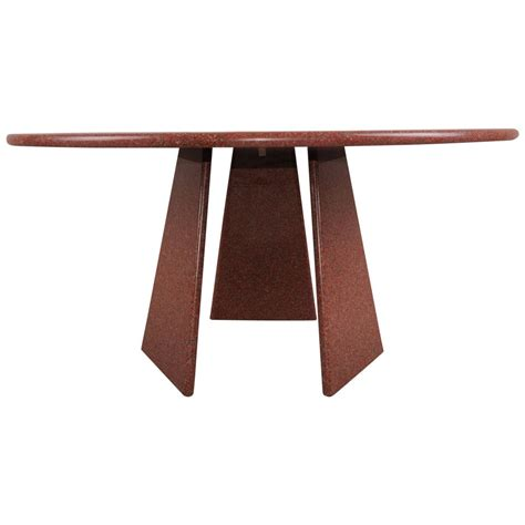 big asolo dining table  angelo mangiarotti   red