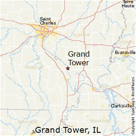 grand illinois map best places to live in grand tower illinois