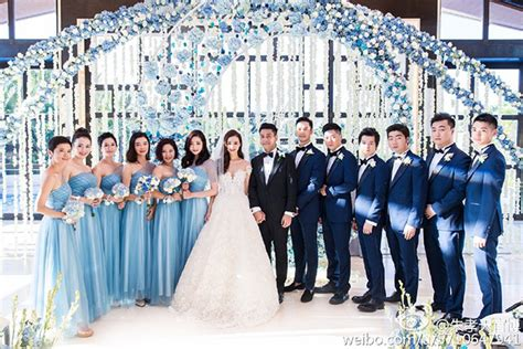 1707069 Biru Tua Gaun Pengantin Wedding Gown Wedding Dress taiwanese actor ken chu han wenwen at the mulia mulia resort villas bali