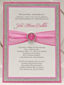 bright pink quincea 241 era sweet sixteen invitation by invitebling