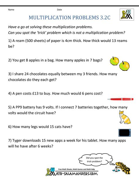 Age Word Problems Worksheet by Uncategorized Age Word Problems Worksheet