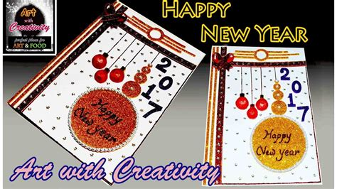 how to make a new year how to make happy new year card easy for