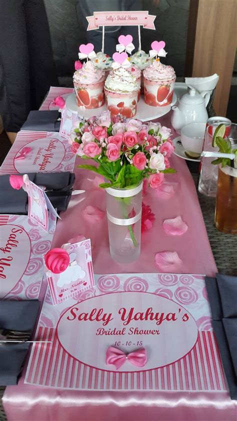 bridal shower table setup jual table setting bridal shower
