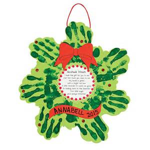 christmas handprint wreath craft images