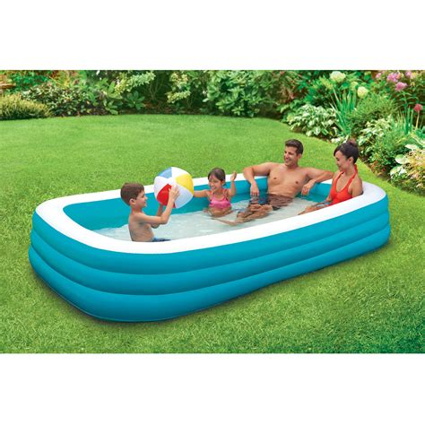 backyard pools walmart intex inflatable sunset glow colorful backyard kids play
