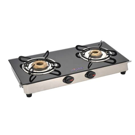2 Burner Gas Cooktop Buy Surya Classic Gas Cooktop 2 Burner Black
