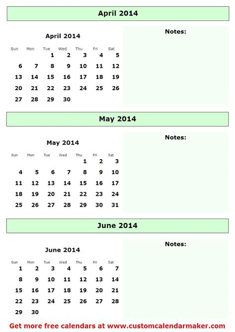 Printable Calendar For April And May 2014 6 best images of april and may 2014 calendar printable