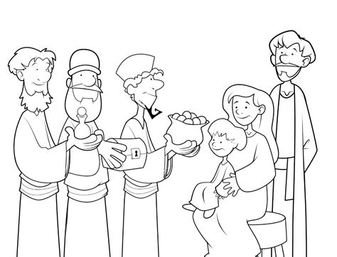 free coloring pages of three kings day