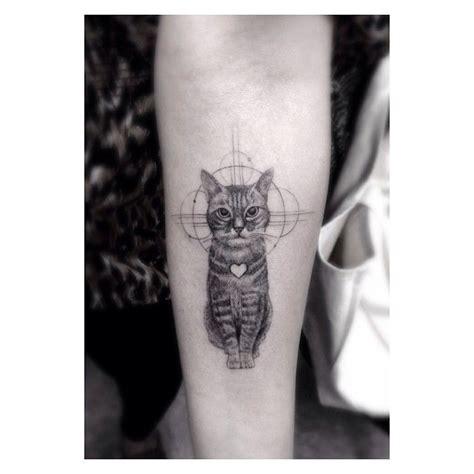 Cat Tattoo Los Angeles | cute cat los angeles style tattoo tattoomagz