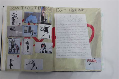 sketch book for the artist banksy artist study emily kontos