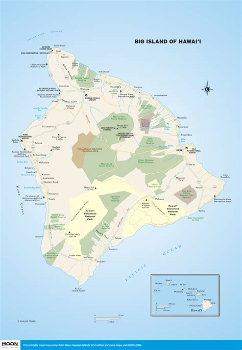 printable road map of big island hawaii printable travel maps of the big island of hawaii moon