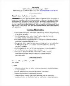 cover letter for custodian for school custodian resume template 6 free word pdf documents