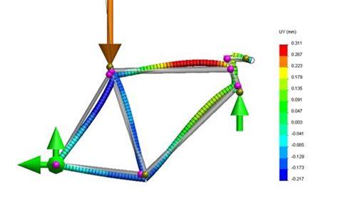 bike frame design loads parametric finite element analysis of bicycle frame