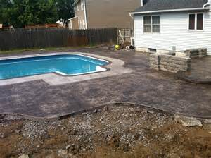 sted concrete pool deck with slide nucrete