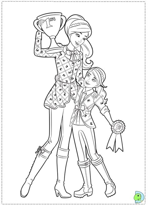 Barbie Skipper Colouring Pages Page 2 Skipper Coloring Pages