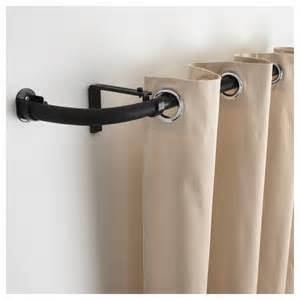 Hugad curtain rod combination bay window black ikea