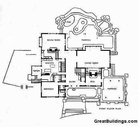 gamble house floor plan great buildings drawing gamble house