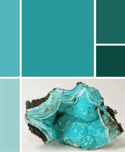 aquamarine color palette rocks and mountains