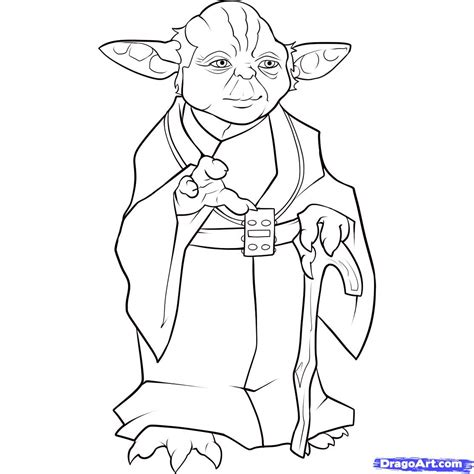easy coloring pages star wars yoda coloring page party ideas pinterest star