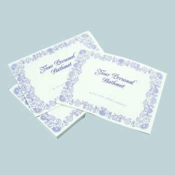 Disposable Paper Shower Mats - b395 disposable bath mat pack 50 eves hotel supplies