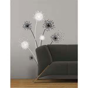dandelion peel and stick giant wall decal room decor peel and stick self adhesive wall decals