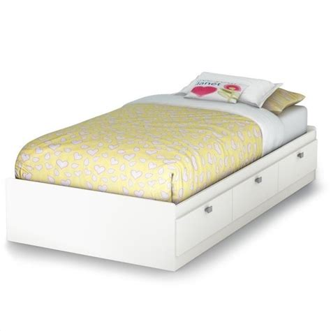South Shore Bed Frames South Shore Spark Mates Bed In White 3260080