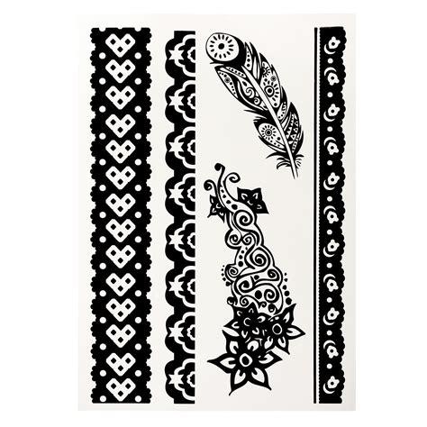 stick on henna tattoo 1pcs diy design black white henna ink lace temporary flash
