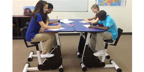 kinesthetic classroom pedal desks activity works first graders are fidgeting less thanks to