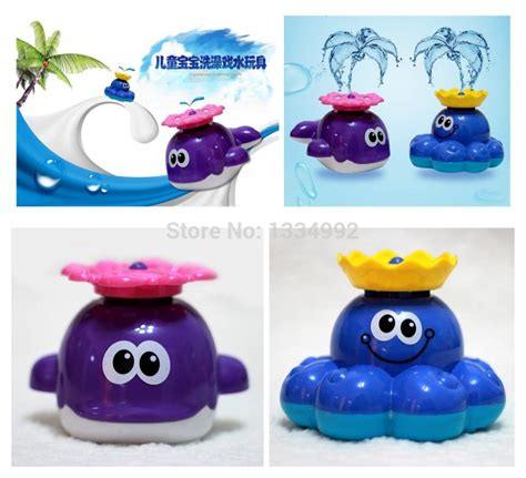 bathtub fountain toy 2014 new kids classic bath toy fountain spray toy battery powered whale bath toy for