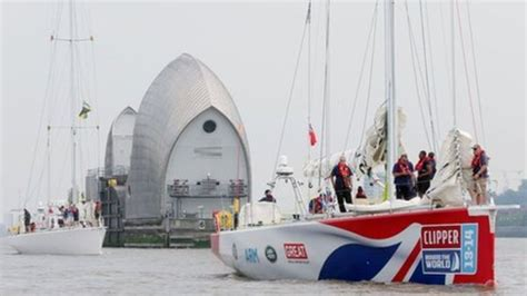 thames barrier bbc bitesize sailors set off on clipper round the world yacht race