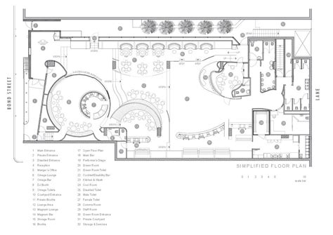 nightclub floor plan bond bar hachem archdaily