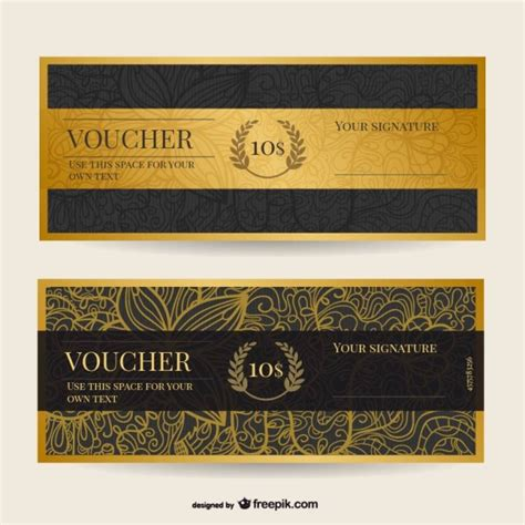 discount voucher template free vintage voucher template vector free