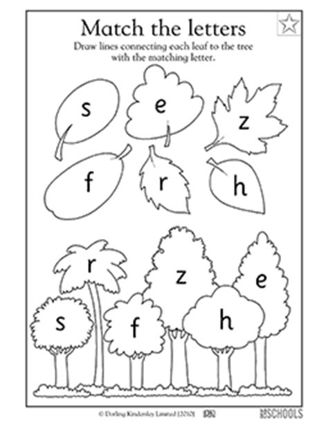 free tree letter matching a to m great winter and kindergarten alphabet matching worksheets letter