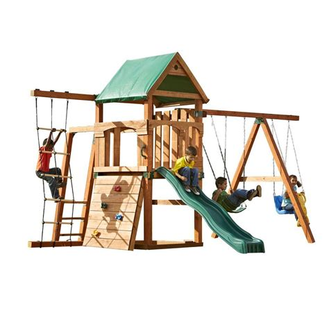 home swing set swing n slide playsets bighorn play set add 4x4 s and