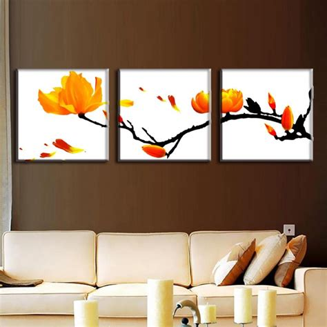 3 Painting Set by 10 Collection Of Modern Framed Wall Canvas
