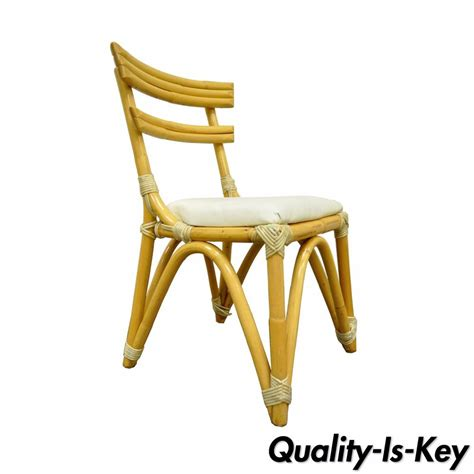 vintage mid century side chair vintage mid century modern regency bamboo rattan